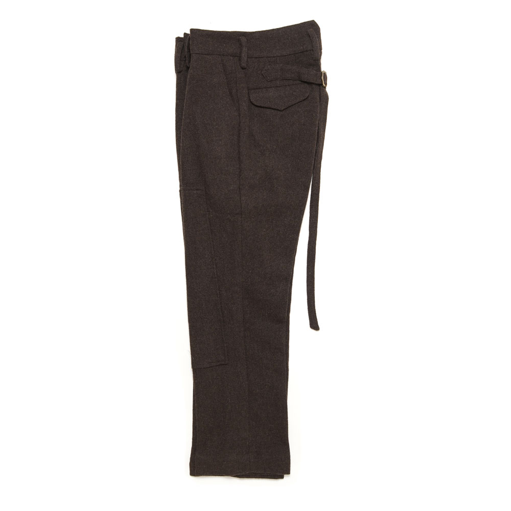 GRAFT HIGH-WAISTED TROUSER BROWN