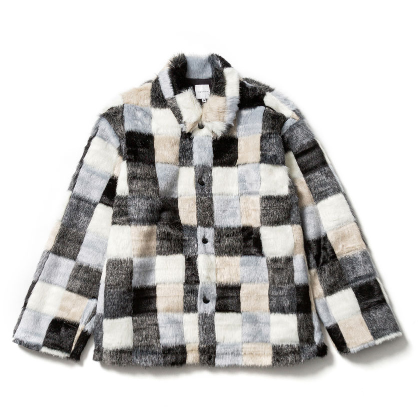 FAKE FUR JACKET BLACKCHECK