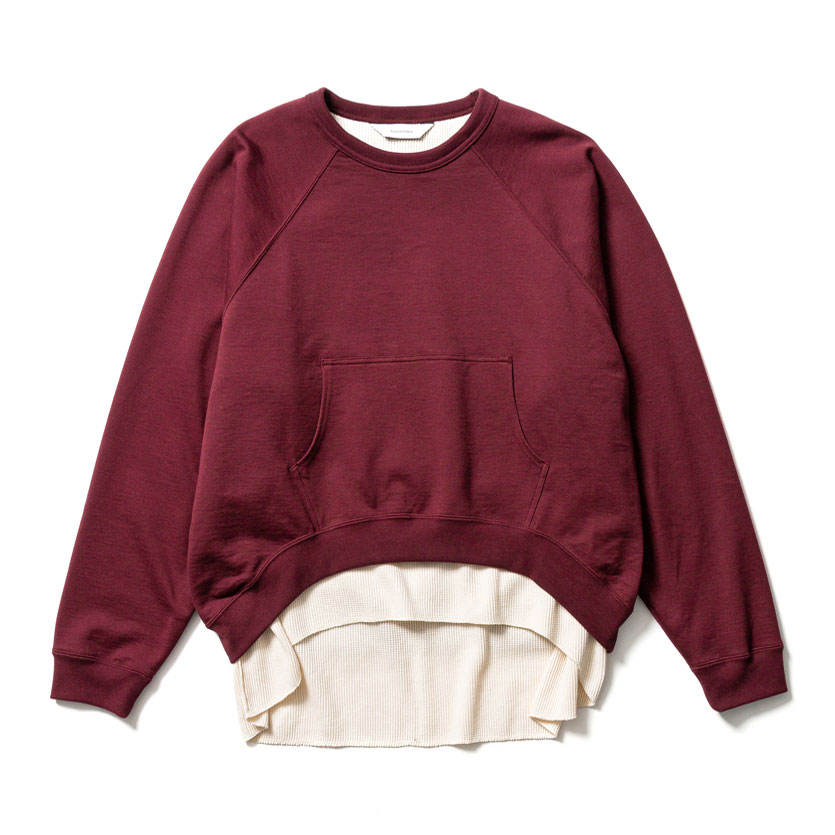 DOUBLE FACE SWEATSHIRT BORDEAUX