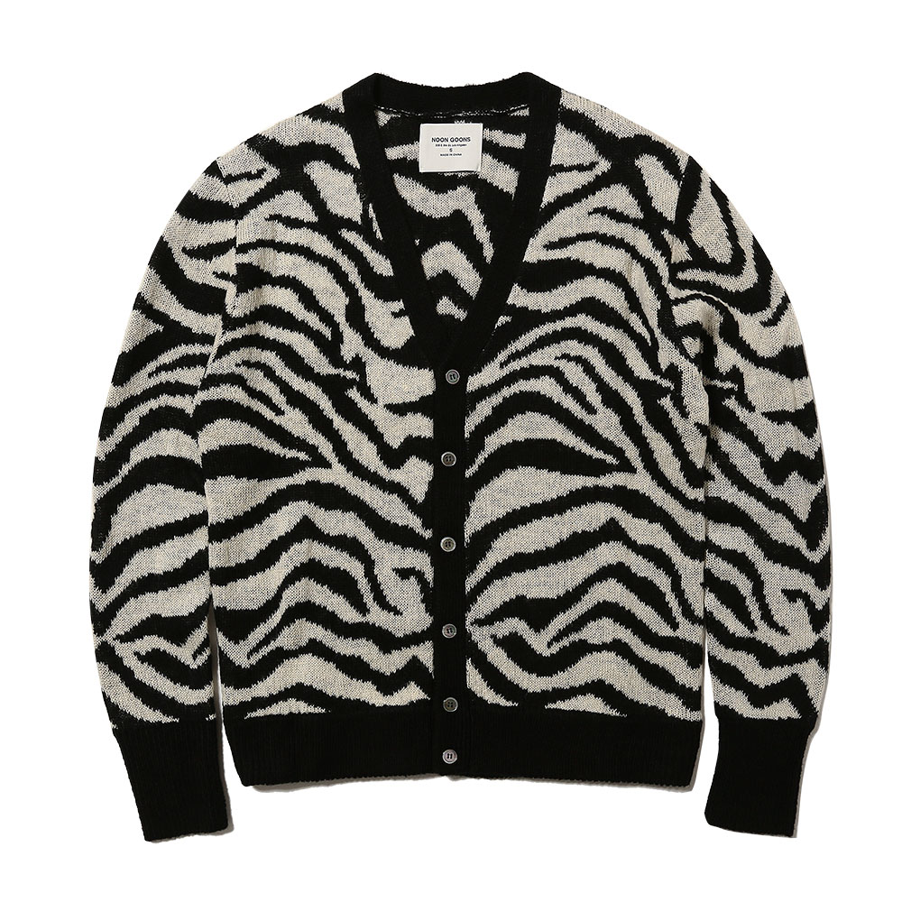 TIGER CARDIGAN BLACK/WHITE