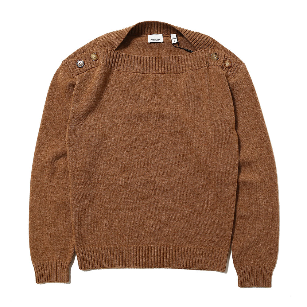 BOAT NECK WOOL SWEATER