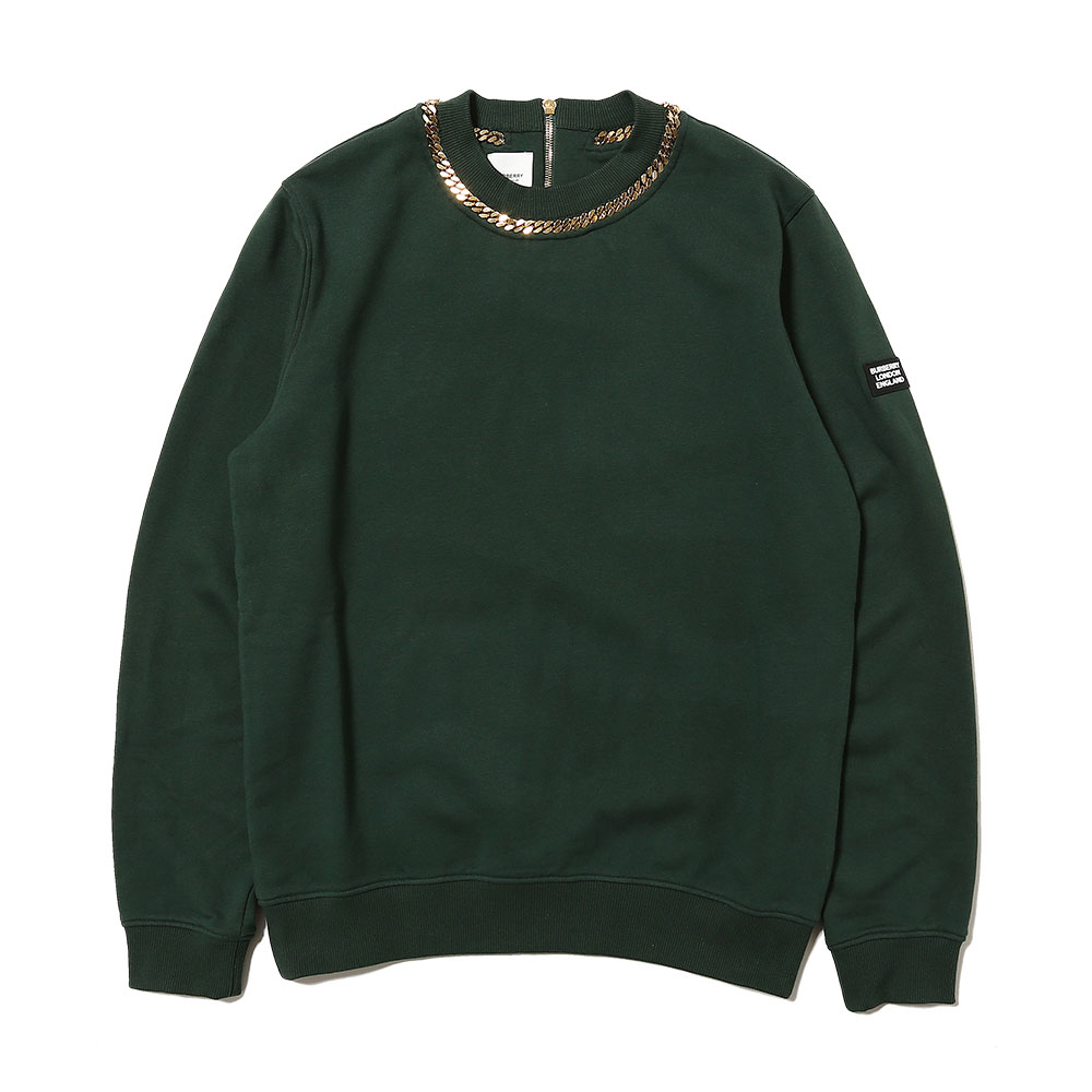 CHAIN DETAIL COTTON SWEATSHIRT
