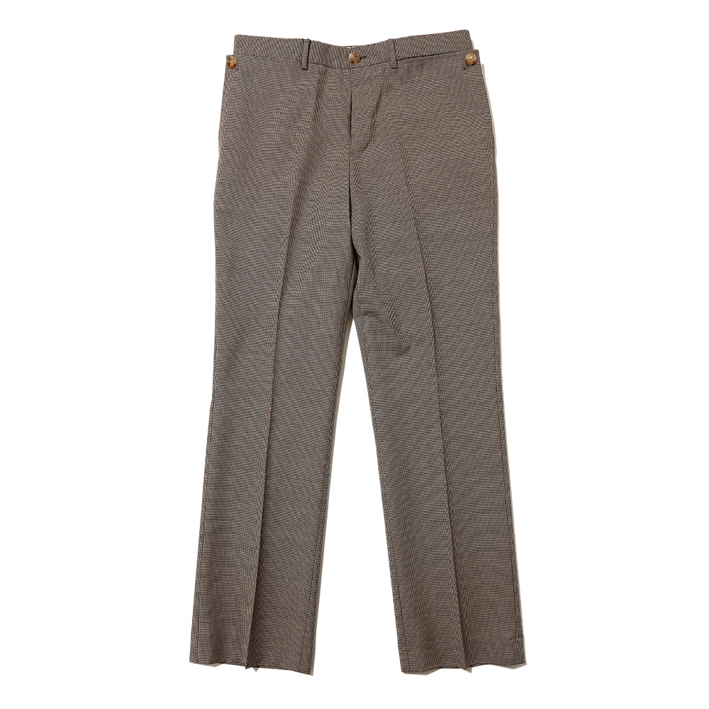 POCKET DETAIL WOOL TAILORED TROUSERS