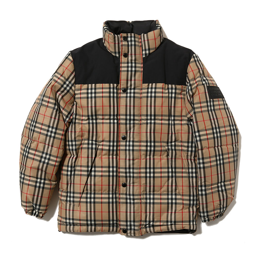 VINTAGE CHECK RECYCLED POLYESTER PUFFER