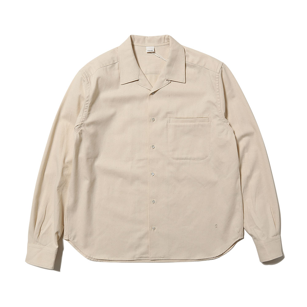 L/S BOXY FIT BUTTON DOWN NATURAL