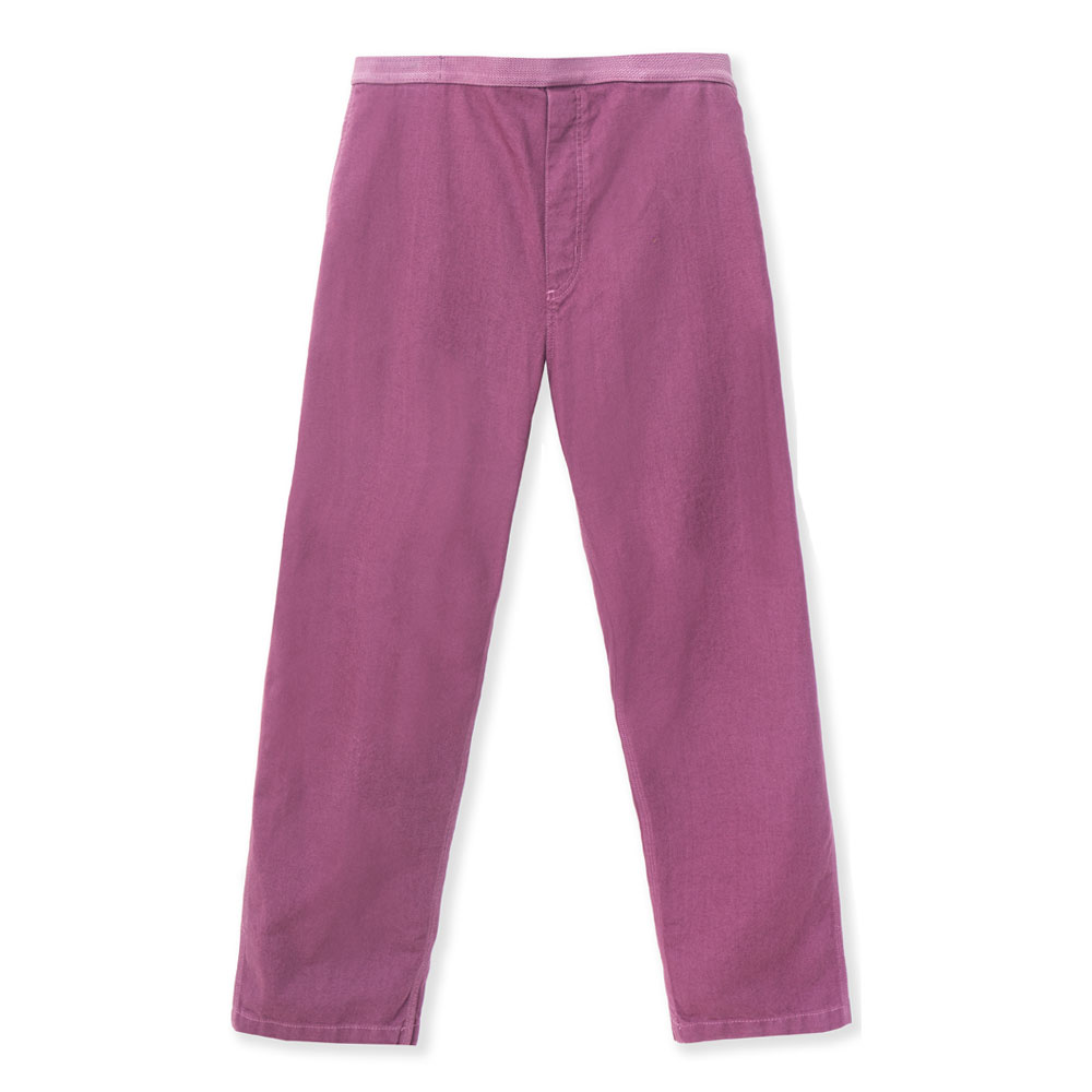 WASHED  H.W. S.W. CARPENTER PANTS PLUM