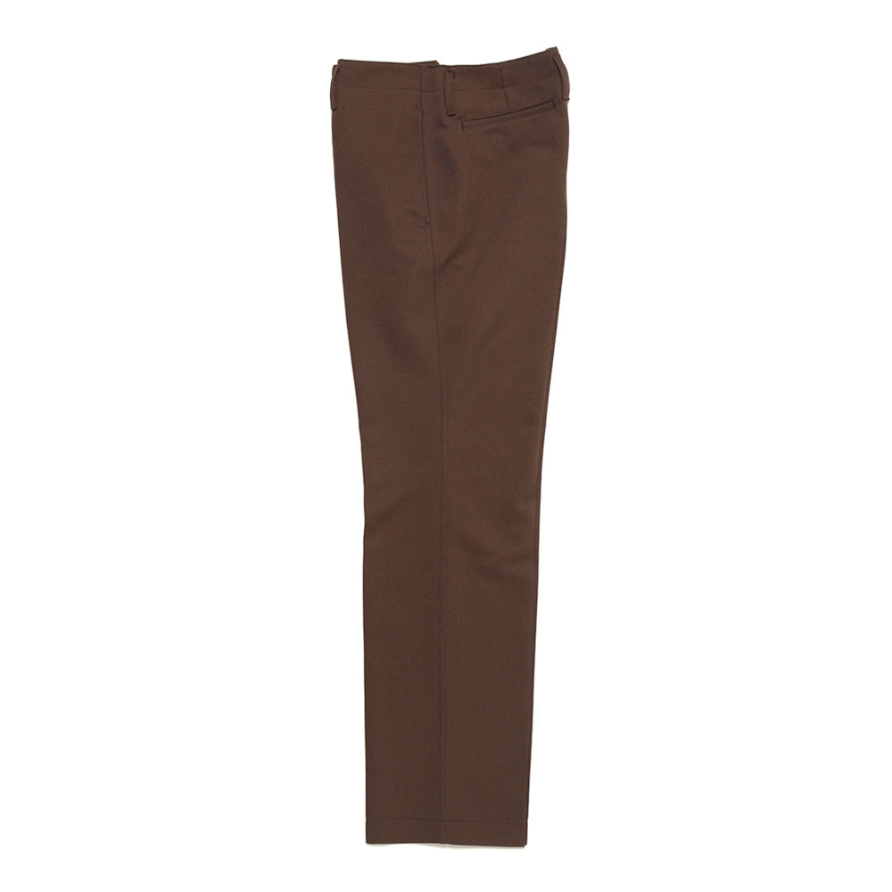 STRAIGHT LEG PANTS RUSSET BROWN
