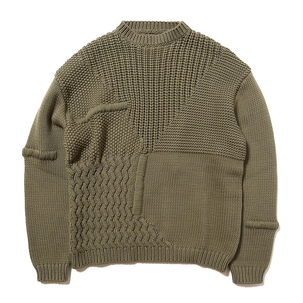 PRISMA CREWNECK KNITTED MEDIUM GREEN