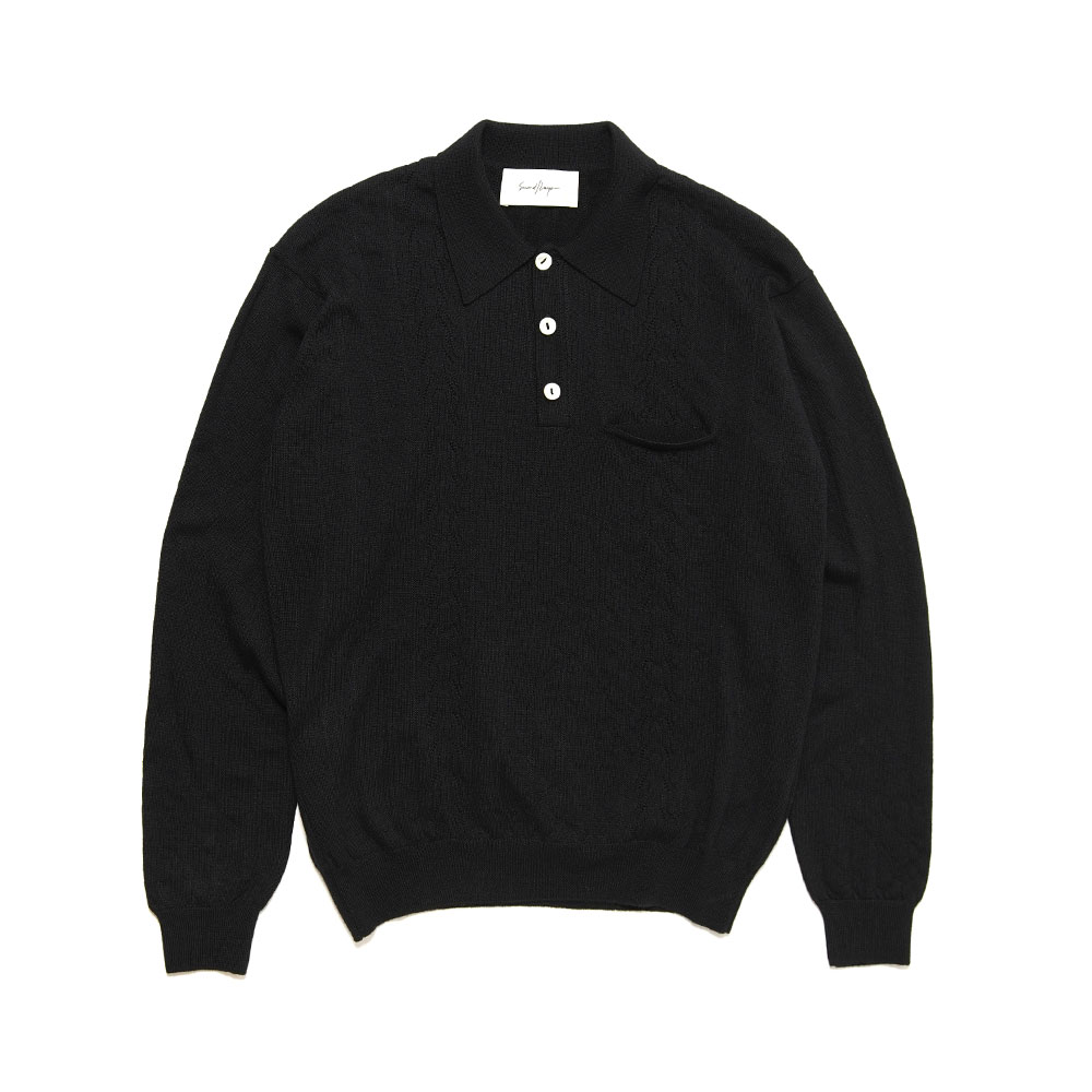POLO SWEATER BLACK