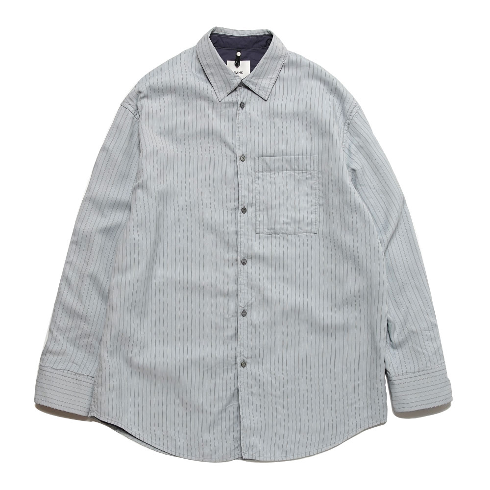 HENRY SHIRT STRIPED VISCOSE/COTTON OXFORD BLUE