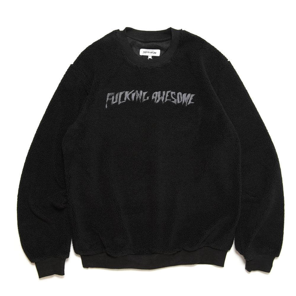 PILE POLAR FLEECE CREWNECK BLACK