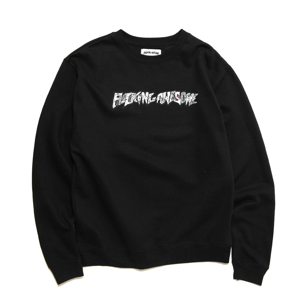 ACTUAL VISUAL GUIDANCE CREWNECK BLACK