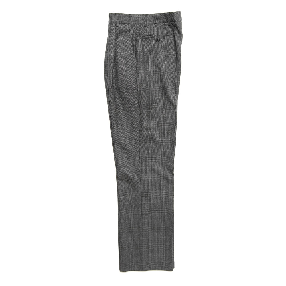 STRAIGHT TROUSERS DARK GREY CHECK