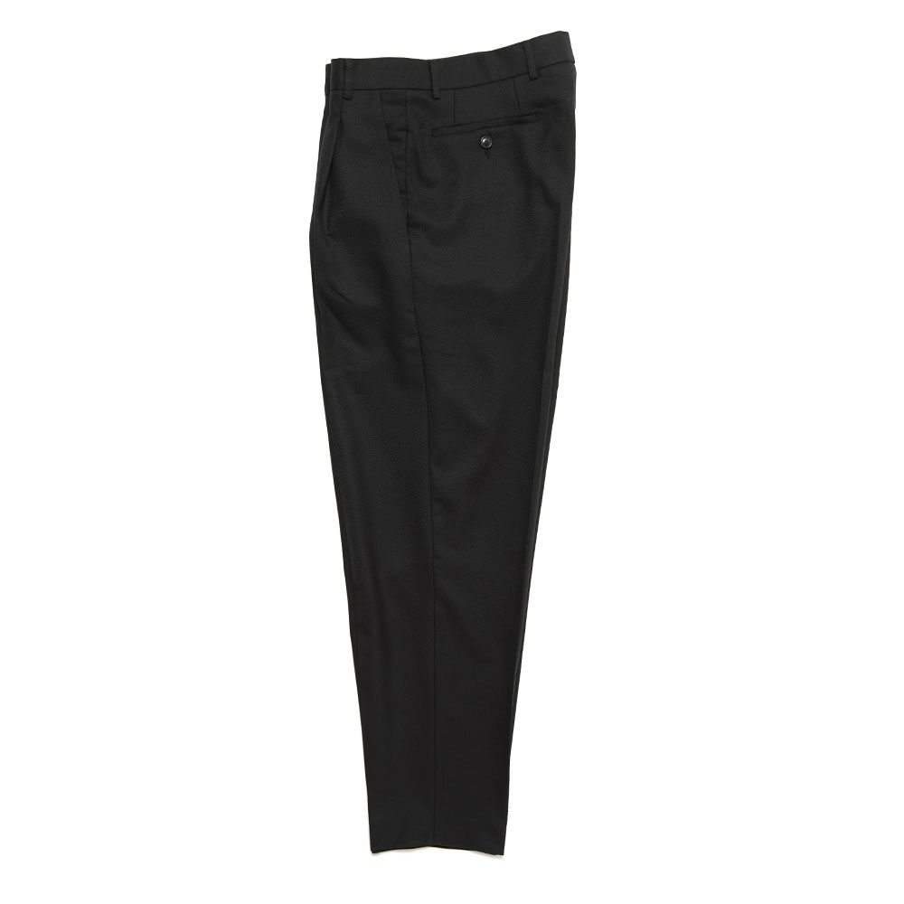 TAPERED LEG TROUSERS BLACK