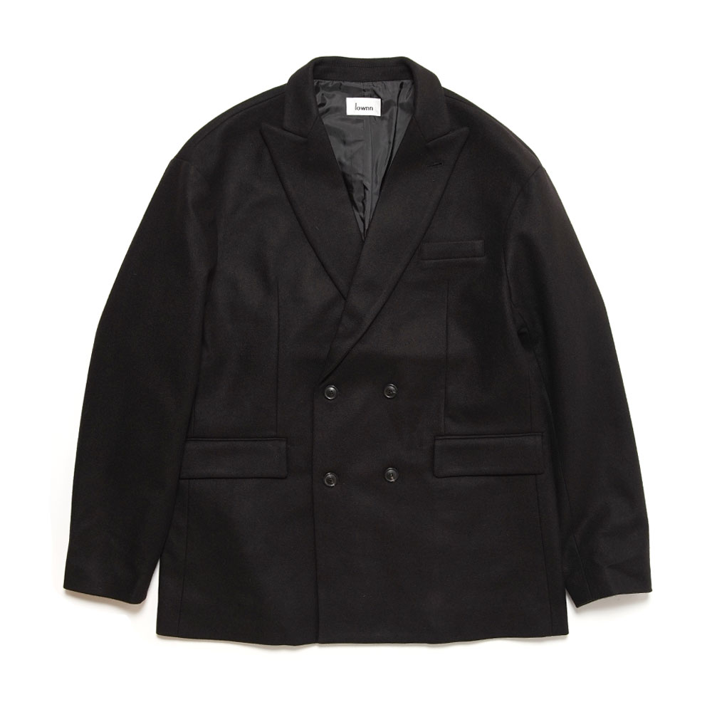 RELAXED DOUBLE BREASTED BLAZER BLACK