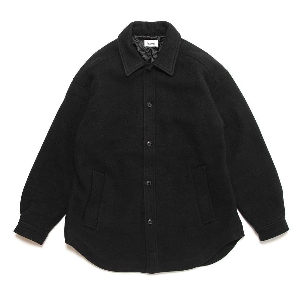 QUILTED SHIRT COAT BLACK