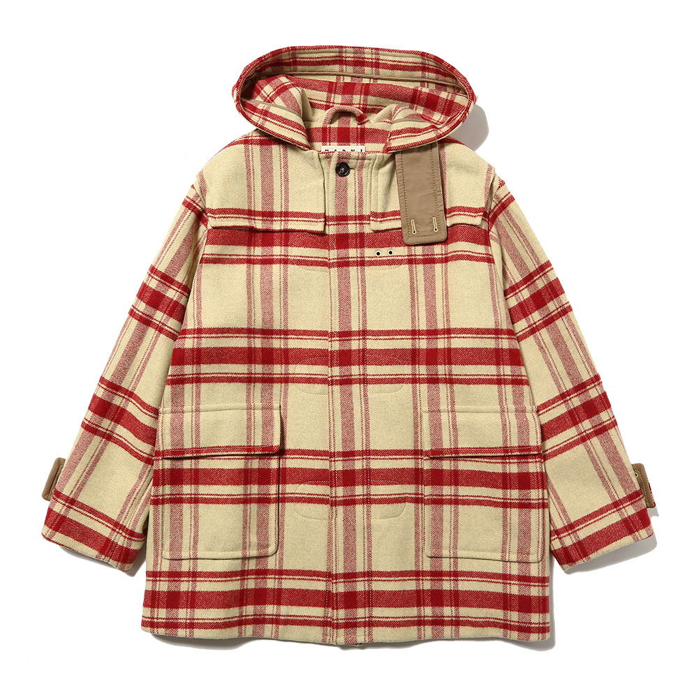 OVERSIZED CHECK DUFFLE COAT