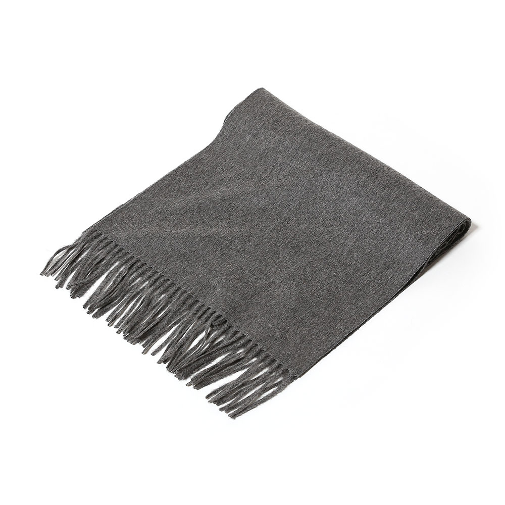 CASHMERE NARROW STOLE TOP GRAY