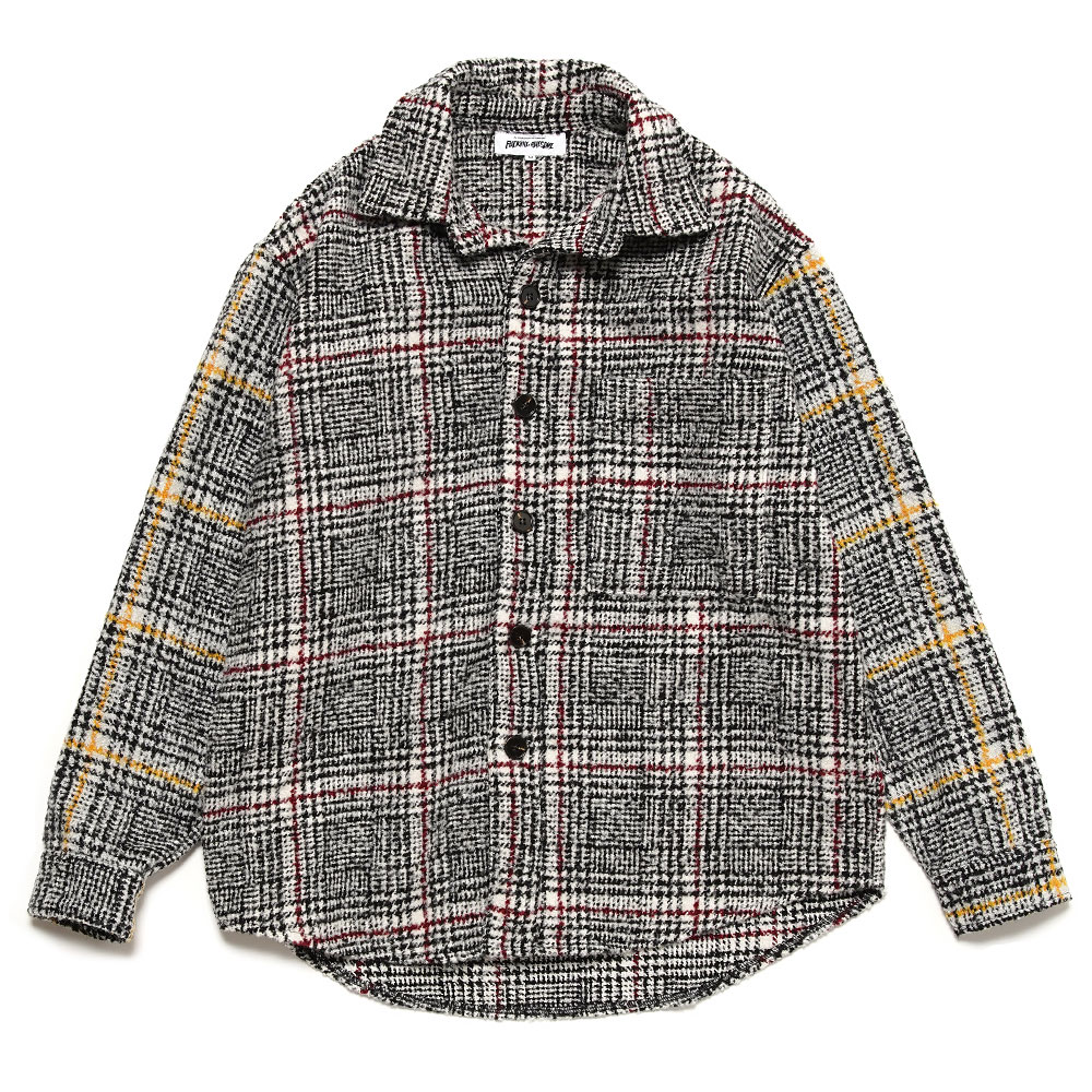 HEAVY FLANNEL OVER SHIRT BLACK/RED W/BLACK/YELLOW