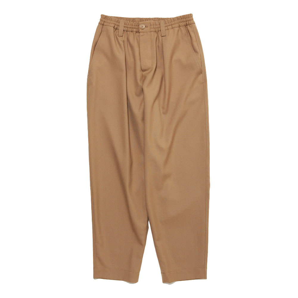 TROPICAL WOOL TAPERED SLACKS SAND
