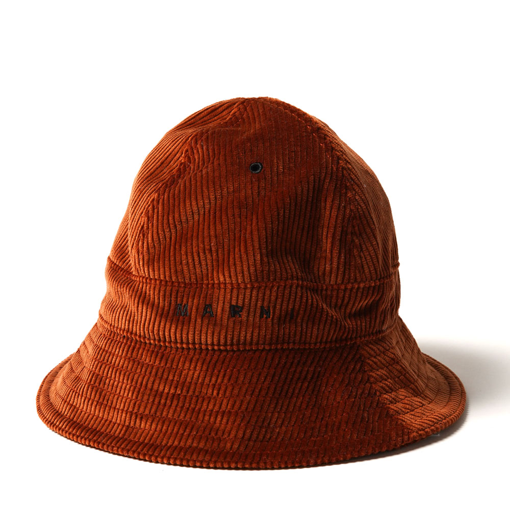 CORDUROY BUCKET HAT DARK BROWN