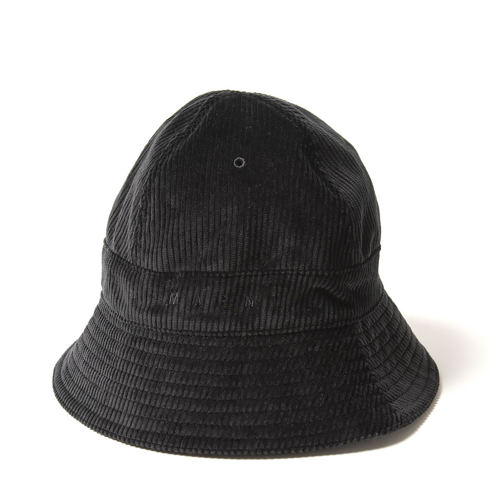 CORDUROY BUCKET HAT BLACK