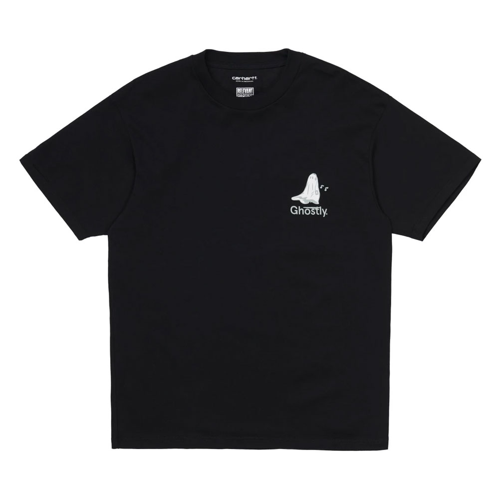 S/S GHOSTLY T-SHIRTS BLACK