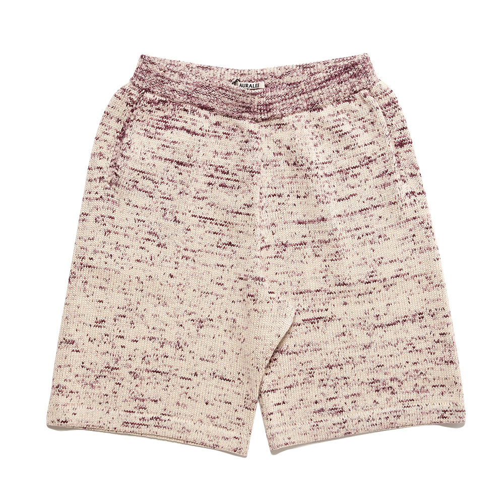 SUPER FINE COTTON RESIST DYED KNIT SHORTS A21SP02KG MIX PURPLE