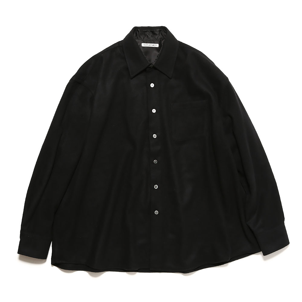 BORROWED SHIRT BLACK WOOL