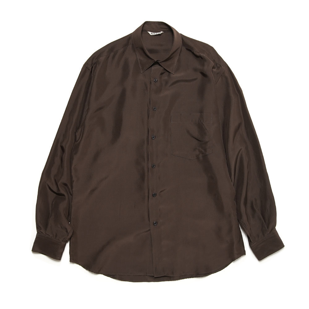 LIGHT SILK SHIRTS A21SS01SL DARK BROWN