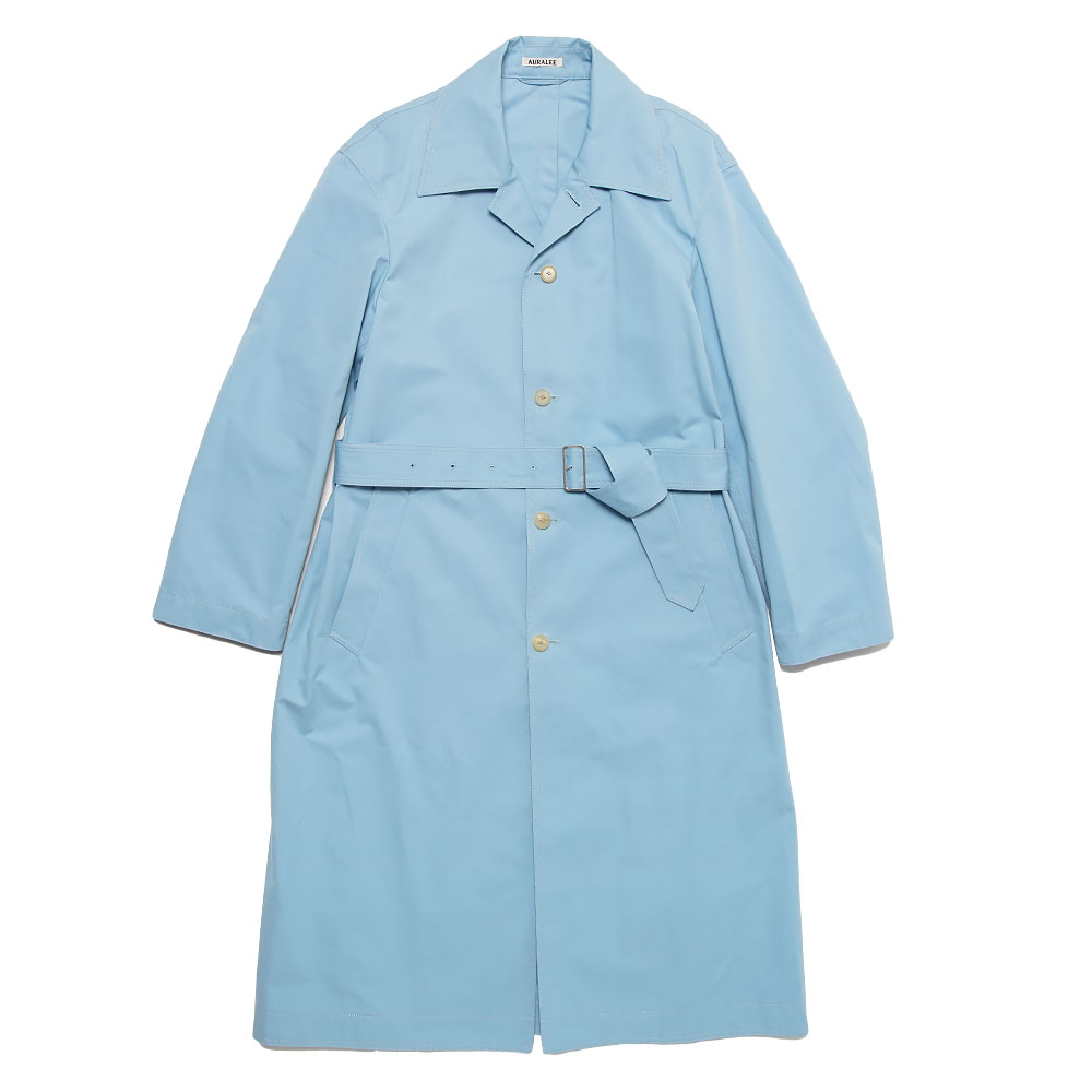 SUPER HIGH DENSITY WEATHER CLOTH COAT A21SP02MG LIGHT BLUE