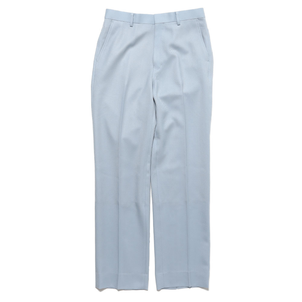 WOOL KID MOHAIR KERSEY SLACKS LIGHT BLUE