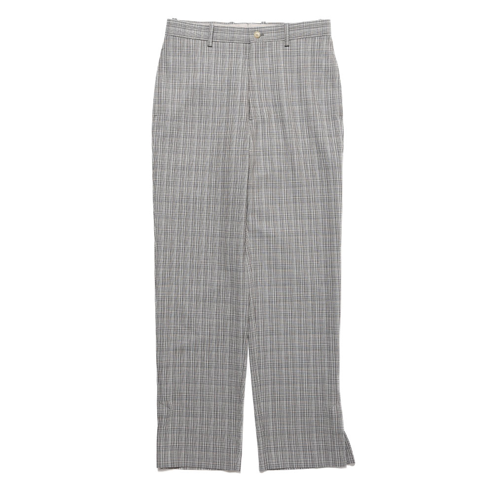 HARD TWIST WOOL DOUBLE FACE CHECK SLACKS GRAY CHECK
