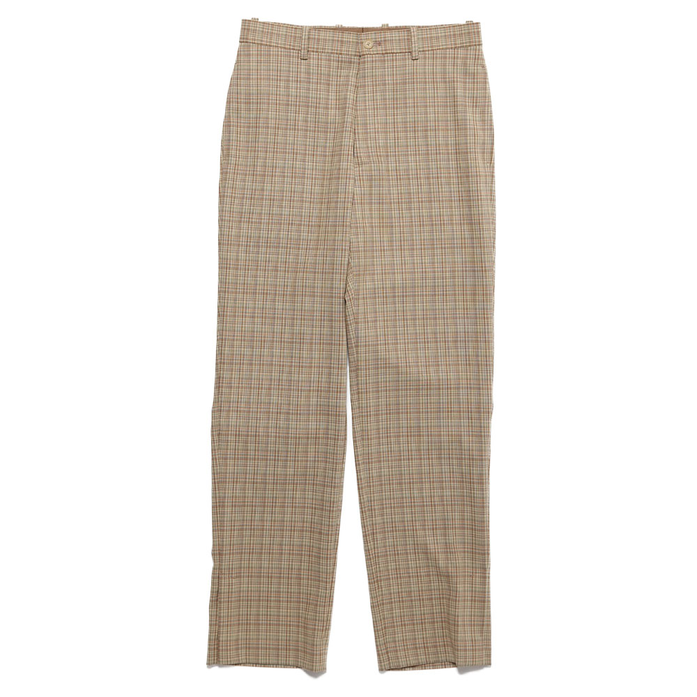 HARD TWIST WOOL DOUBLE FACE CHECK SLACKS BEIGE CHECK