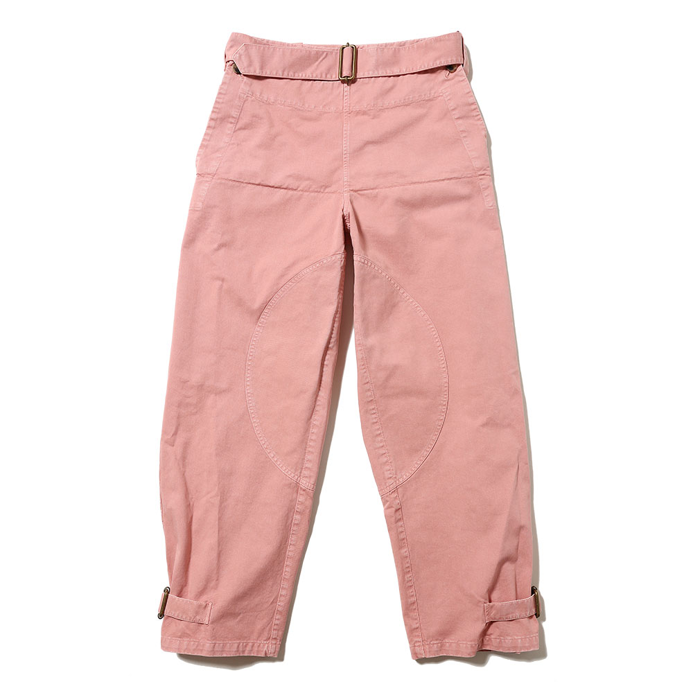 FOLD FRONT COTTON ARMY TROUSERS PINK