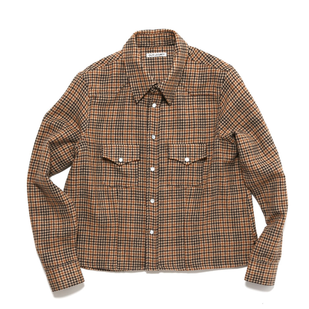 SHRUNKEN FRONTIER SHIRT HIGHGATE HOUNDSTOOTH