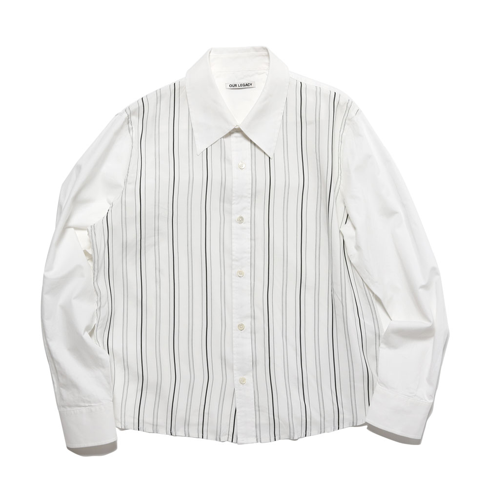 PLACKET SHIRT WHITE STRIPE