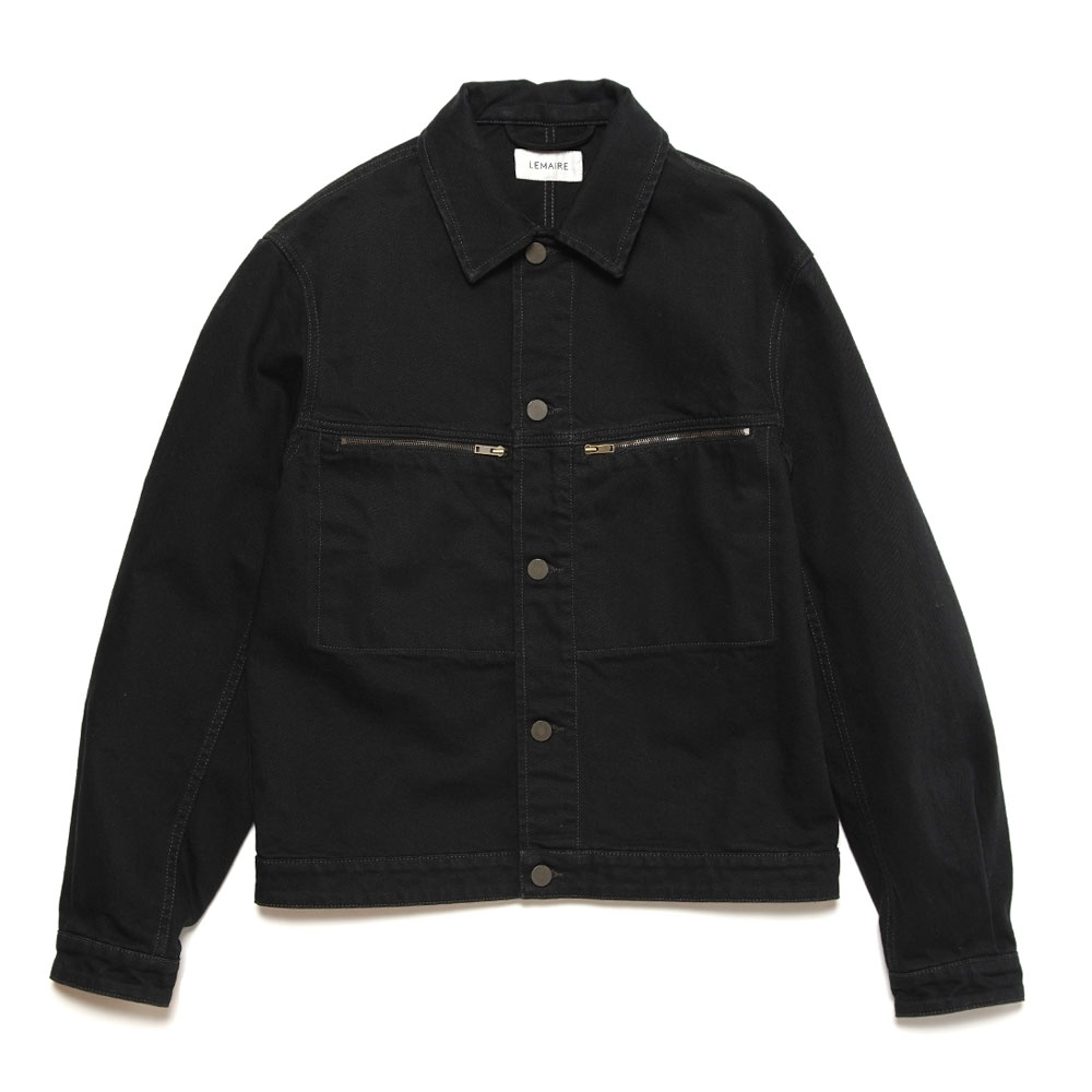 DENIM TRUCKER JACKET BLACK