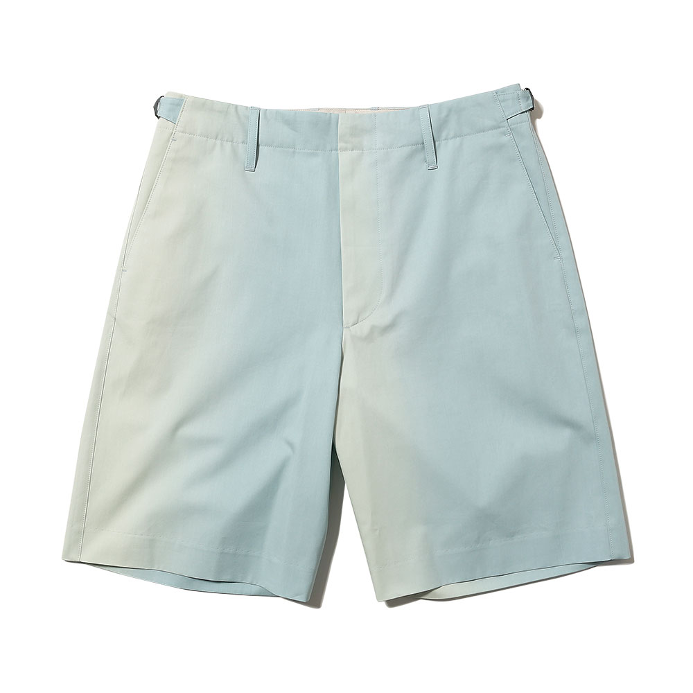 WASHED FINX GRADATION DYED SHORTS MORNING BLUE