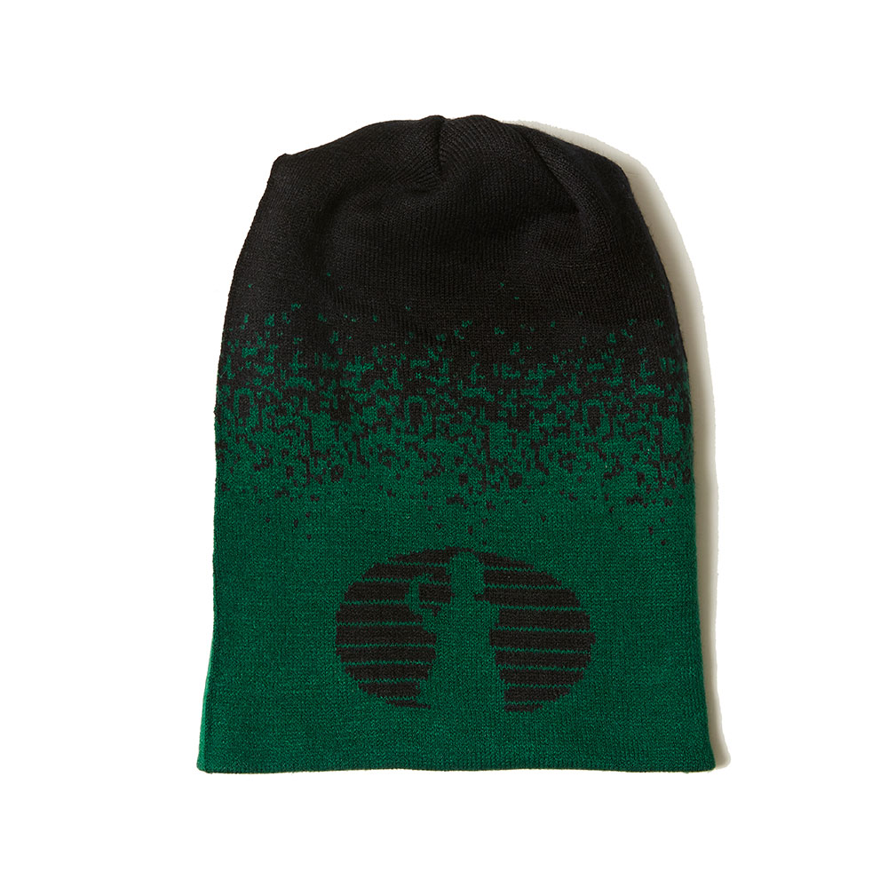 TWO WAY KNIT BEANIE GREEN