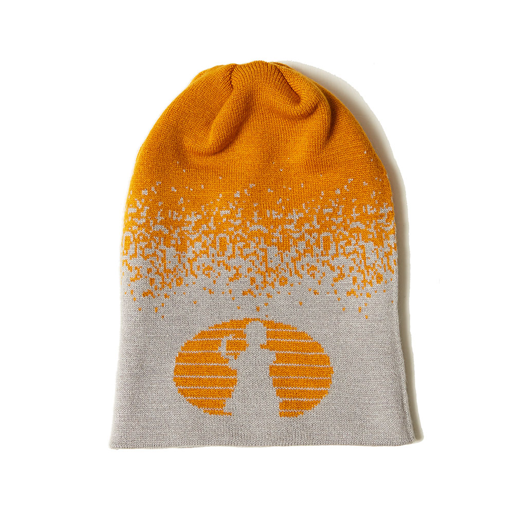 TWO WAY KNIT BEANIE YELLOW