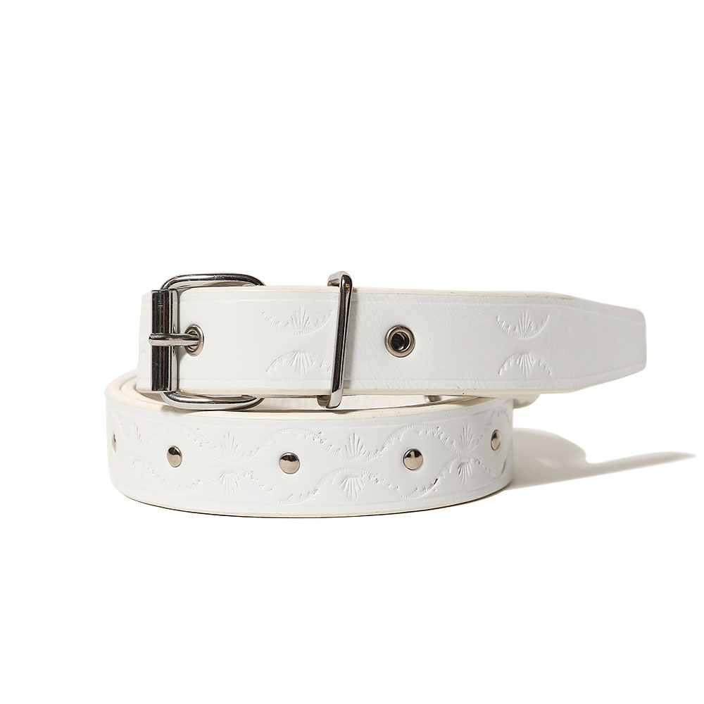 BELT(CALF TYROL METAL) BIANCO