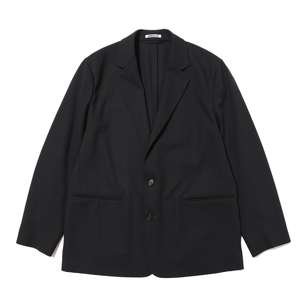 HARD TWIST WOOL DOBBY JACKET DARK NAVY