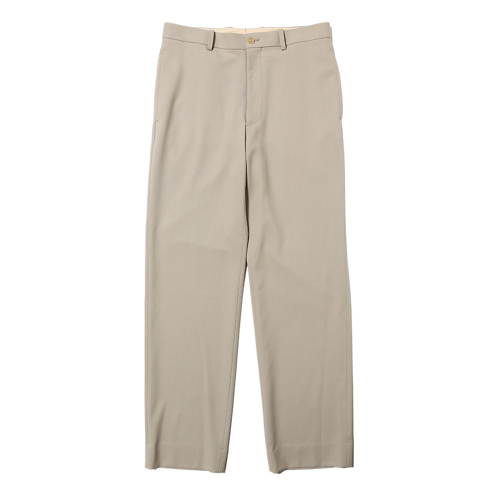 HARD TWIST WOOL DOBBY SLACKS LIGHT GREY