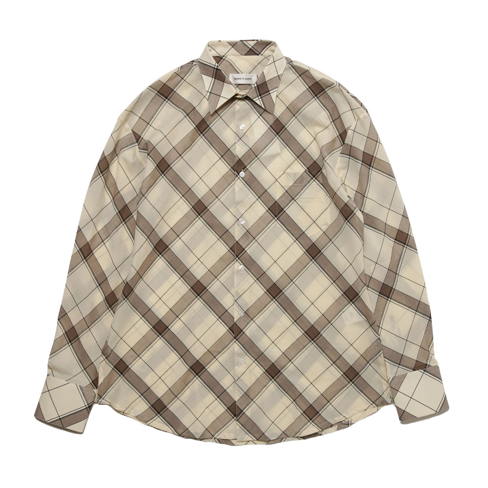 CLASSIC SHIRT BEIGE / BROWN CHECK