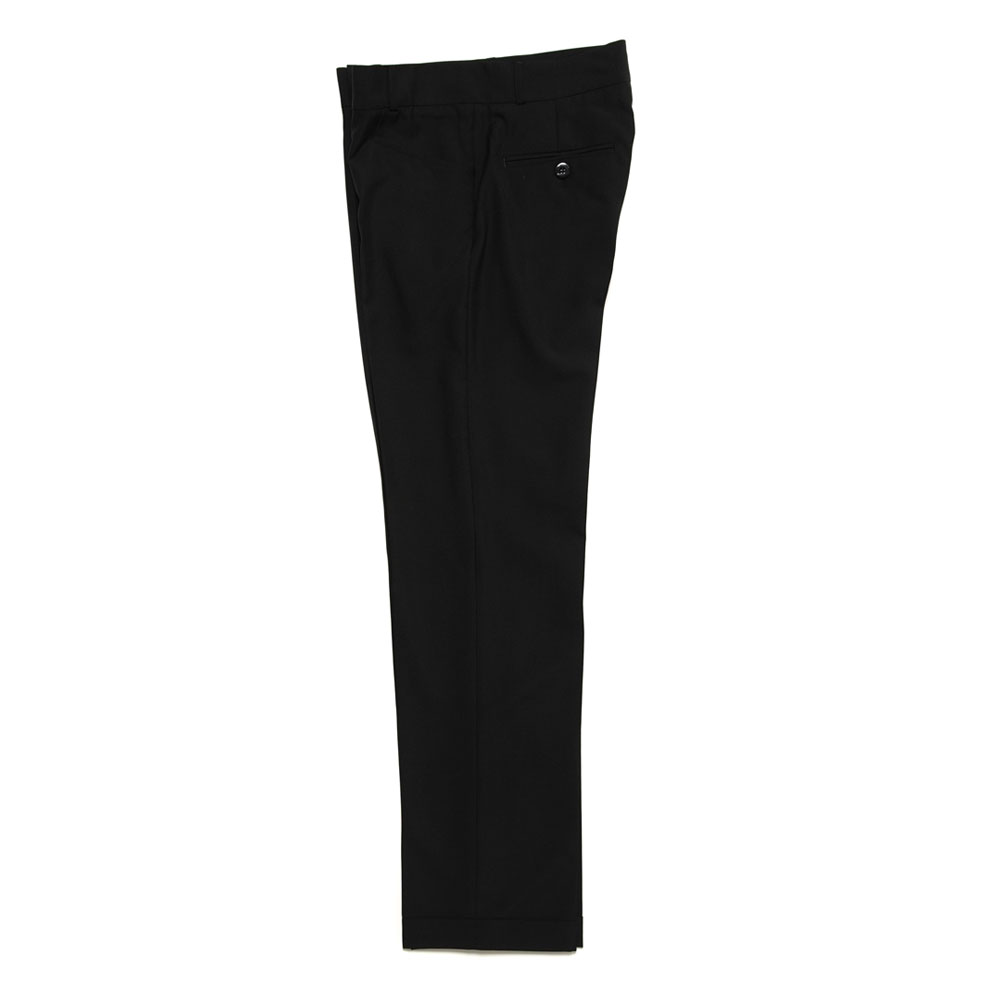 TAILORED SLIM-FIT TROUSERS BLACK
