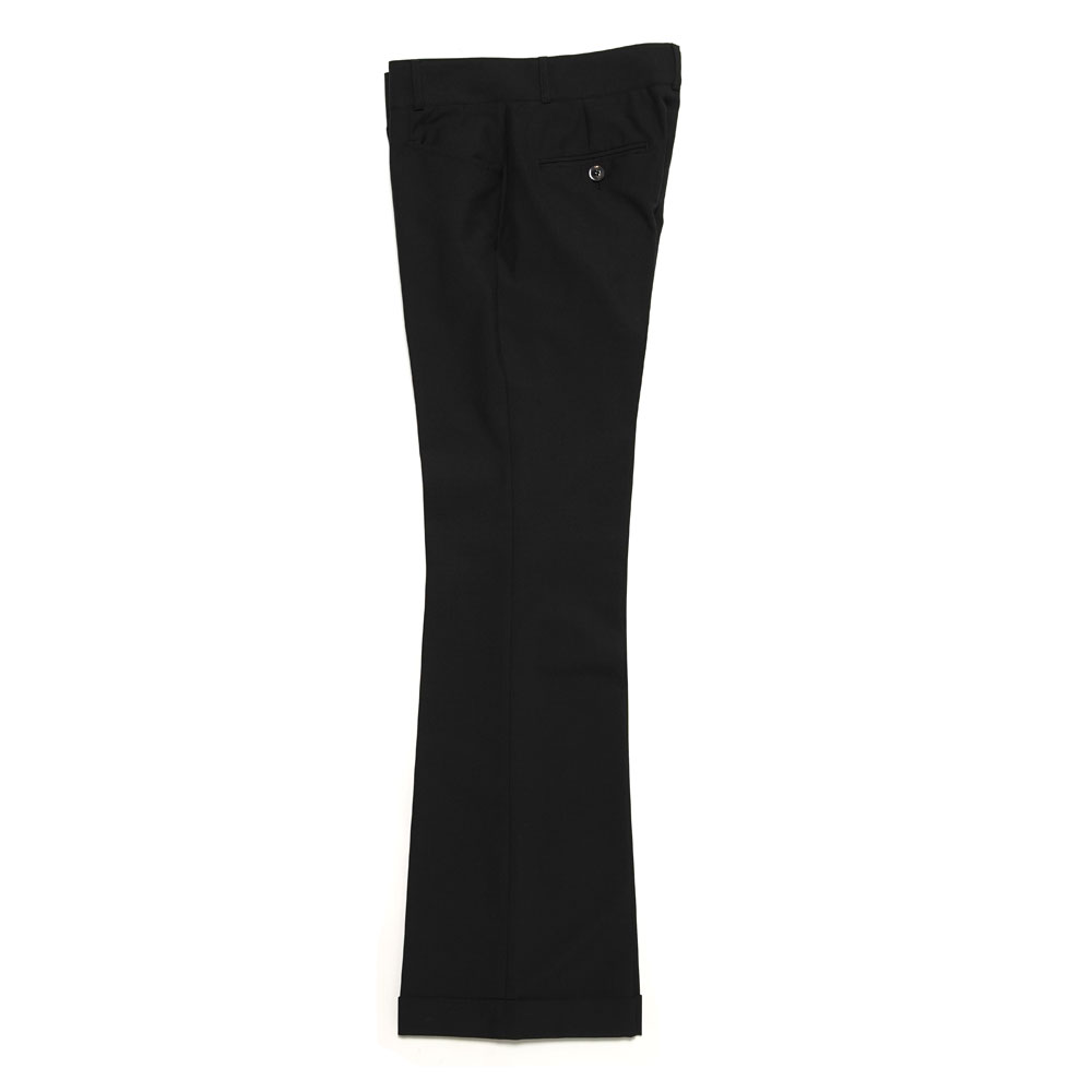 CUFFED 70S TROUSERS BLACK