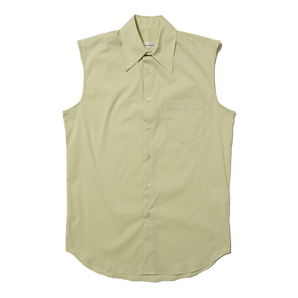 SLEEVELESS SHIRT LIGHT YELLOW