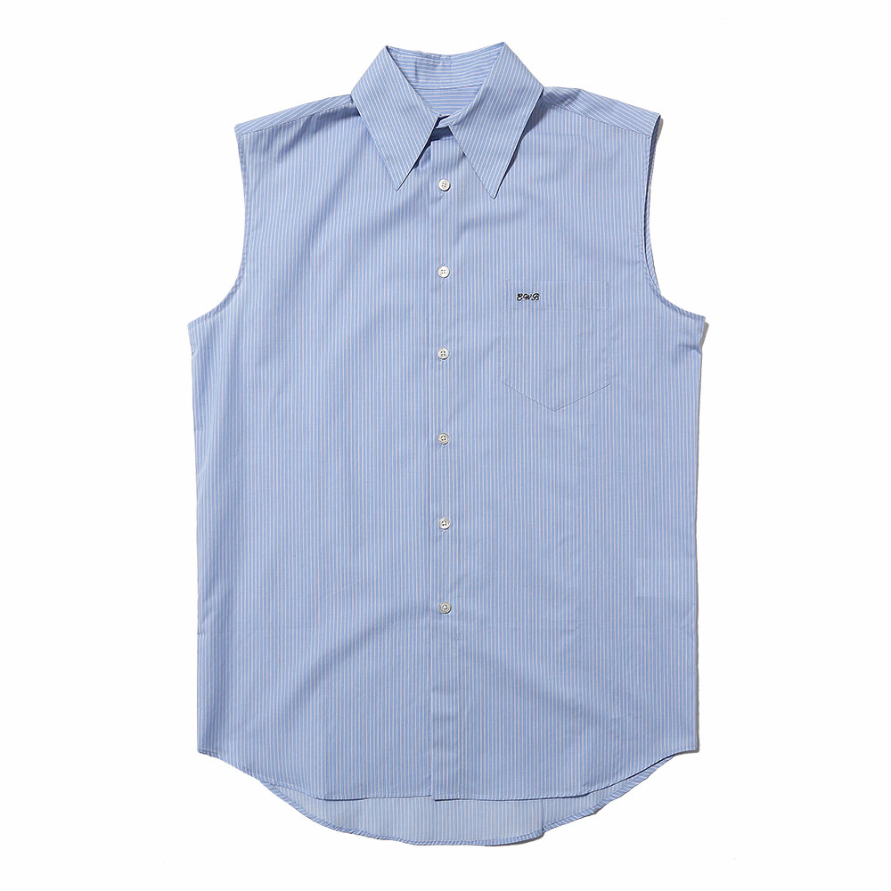 SLEEVELESS SHIRT LIGHT BLUE