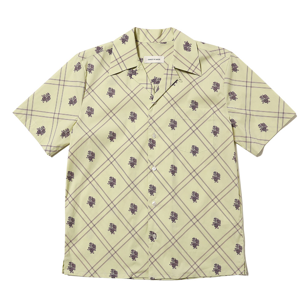 BOWLING SHIRT LIGHT YELLOW w/PRINT